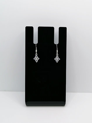 Sterling Silver Shaped CZ Earrings