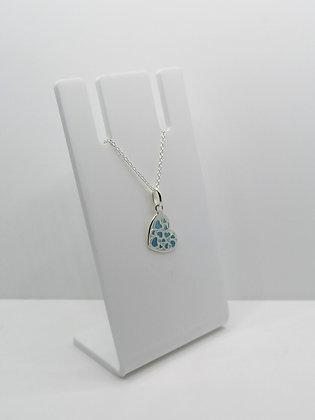 Sterling Silver Multi Heart Pendant - Blue