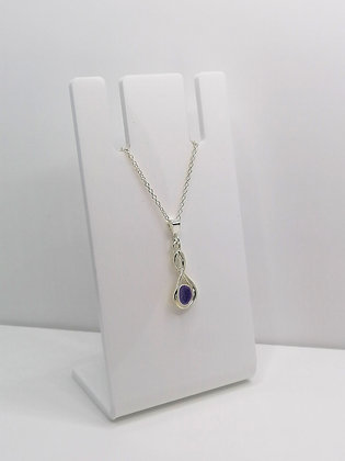 Sterling Silver Infinity Pendant - Purple