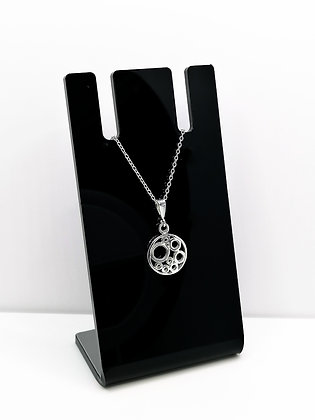 Sterling Silver Round Circles Pendant