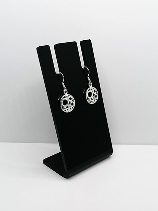Sterling Silver Circles Drop Earrings