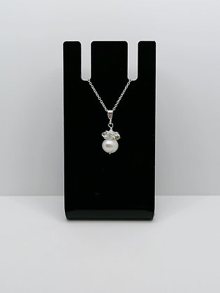 Sterling Silver Pearl Thistle Pendant