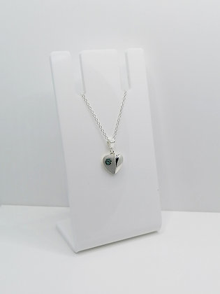Sterling Silver Heart Pendant - Turquoise