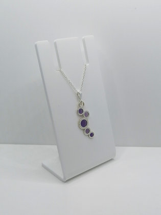 Sterling Silver Circles Pendant - Purple