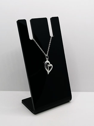 Sterling Silver Heart Duo Pendant