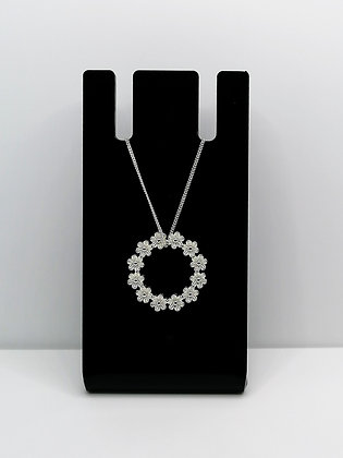 Sterling Silver Floral Ring Pendant