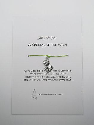 Wish Bracelet -  Christmas Stocking Pale Green