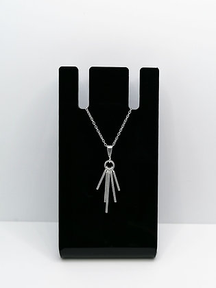 Sterling Silver Five Bar Pendant