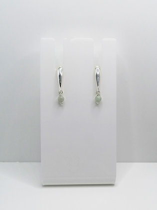 Sterling Silver Bar Studs with Jadeite