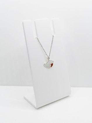 Sterling Silver Robin Bird Pendant