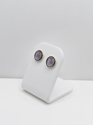 Sterling Silver Purple Thistle Duo Studs