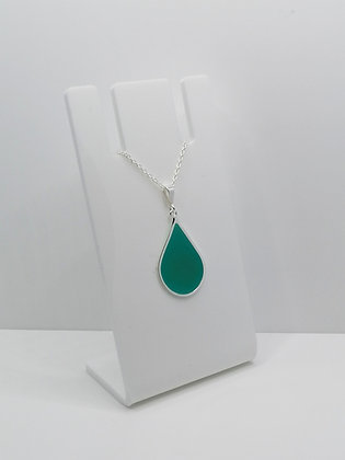 Sterling Silver Teardrop Pendant - Turquoise