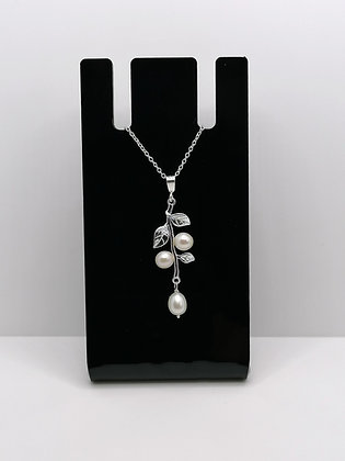 Sterling Silver Pearl Branch Pendant