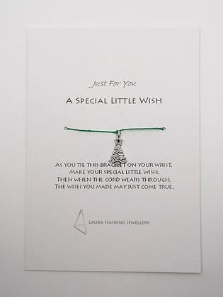 Wish Bracelet -  Christmas Tree Green