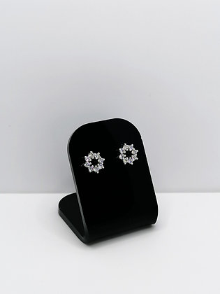 Sterling Silver CZ Ring Studs