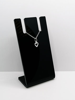 Sterling Silver Small Open Heart Pendant