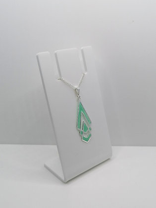 Sterling Silver Shaped Pendant - Turquoise