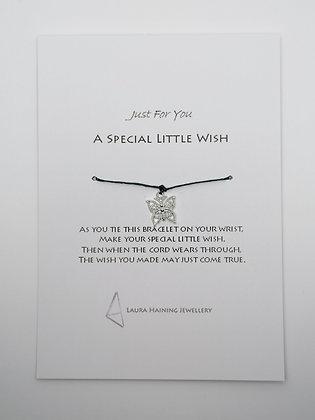 Wish Bracelet -  Butterfly Black