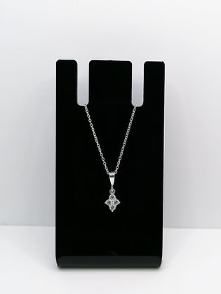 Sterling Silver Shaped CZ Pendant
