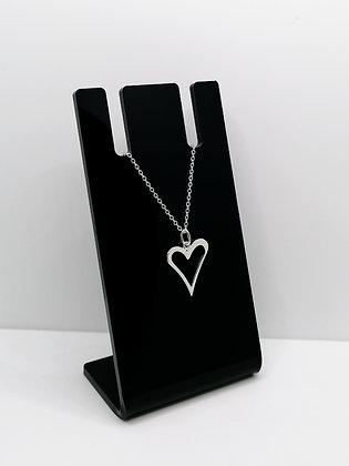 Sterling Silver Heart Outline Pendant
