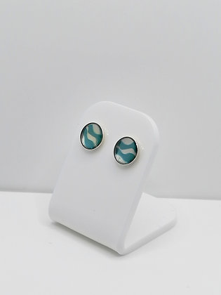 Sterling Silver Wave Studs