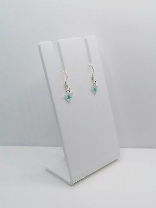 Sterling Silver Triangle Earrings - Turquoise