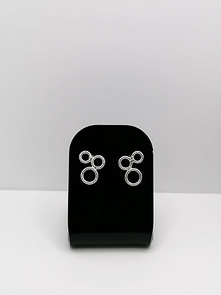 Sterling Silver Circles Studs