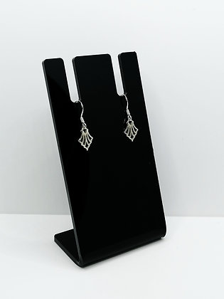 Sterling Silver Fan Shaped Earrings