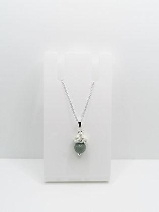 Sterling Silver Thistle Pendant - Jadeite