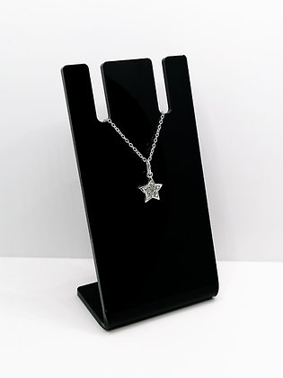 Sterling Silver CZ Star Pendant