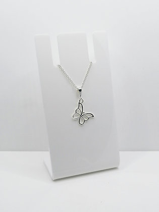 Sterling Silver Butterfly Charm Pendant