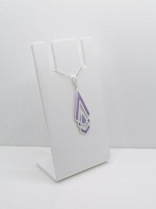 Sterling Silver Shaped Pendant - Purple