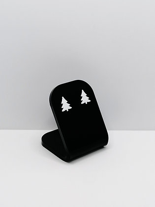 Sterling Silver Christmas Tree Studs