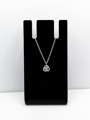 Sterling Silver Cubic Zirconia Knot Pendant