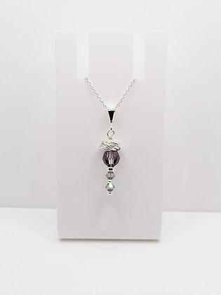 Sterling Silver Swarovski Crystal Thistle Pendant