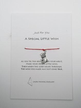 Wish Bracelet -  Christmas Stocking Red