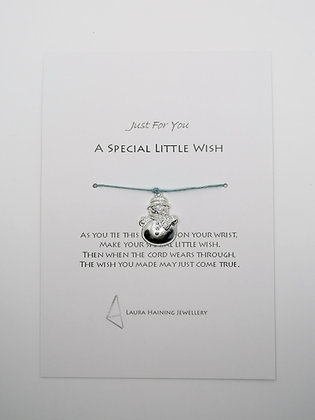 Wish Bracelet - Snowman Pale Blue