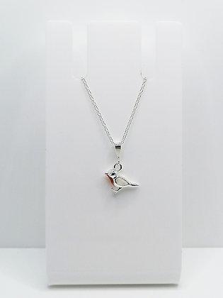 Sterling Silver Robin Pendant