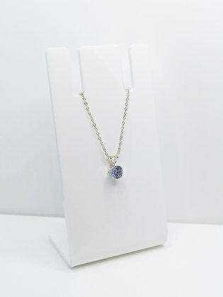 Sterling Silver CZ Pendant - Lilac