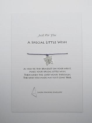 Wish Bracelet -  Butterfly Lilac