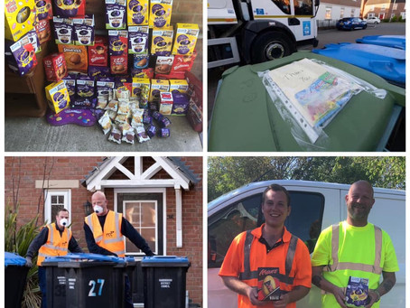 Easter Egg Donations to Harborough Council