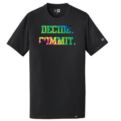 Decide. Commit. Tie-Dye T-Shirt