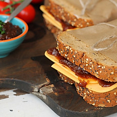 Cheddar Cheese, Sweet Pickle & Salad Sandwich