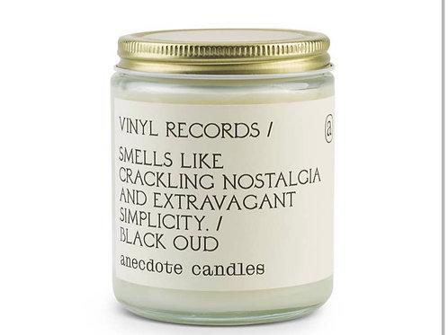 """Vinyl Records"" Candle (Black Oud)"