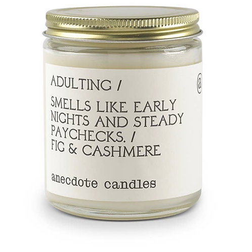 """Adulting"" Candle (Fig & Cashmere)"