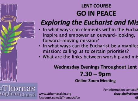 Lent Course - Going Online