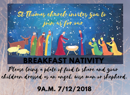 St Thomas' Breakfast Nativity
