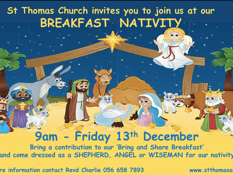 Join us at St Thomas for our Breakfast Nativity