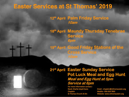 Holy Week and Easter at St Thomas