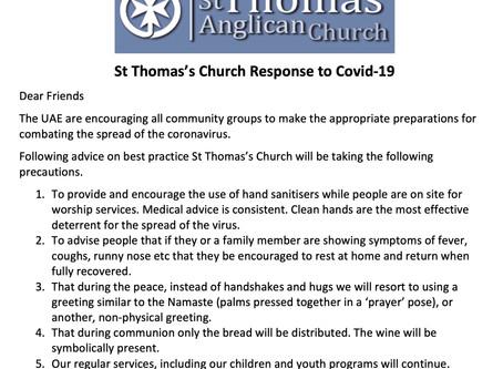 St Thomas Response to Covid-19